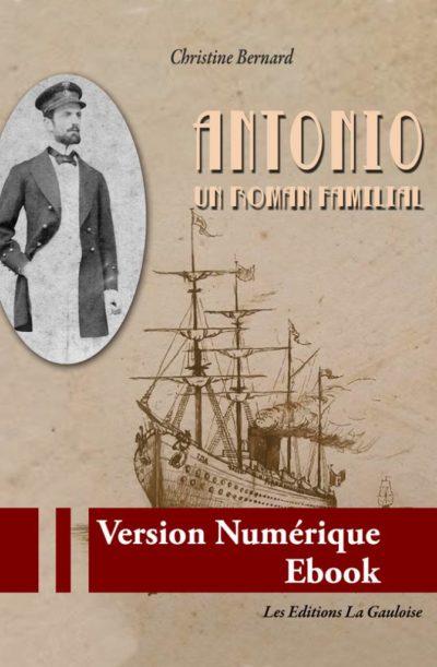 "Couverture ebook "" Antonio "" de Christine Bernard"
