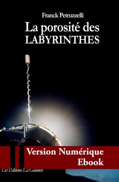 """Couverture ebook """" La porosité des labyrinthes """" de Franck Petruzzelli"""